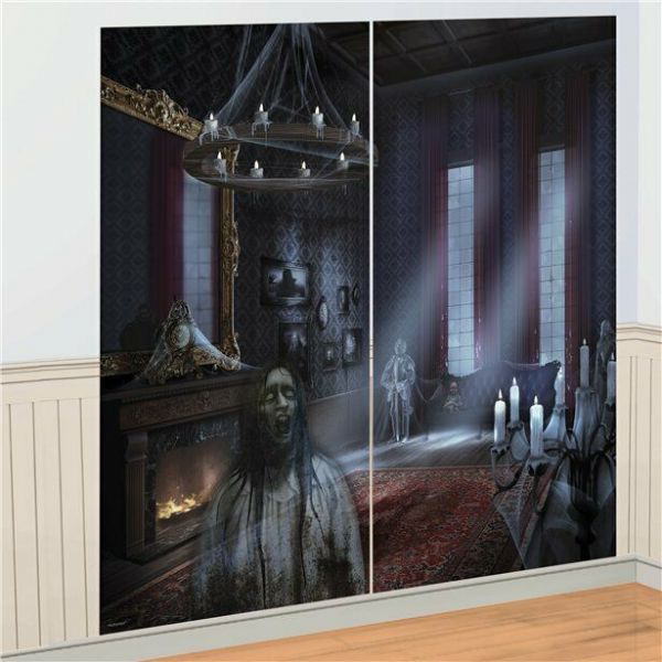Halloween Dark Manor Wall Decoration Kit - 1.65m 2pk